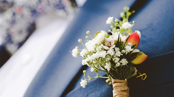 HART Holistic Support Weddings buttonhole flowers